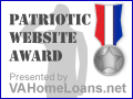 Patriotic Web Site Award by VAHome Loans.net